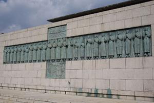 日本二十六聖人像・長崎市 西坂の丘