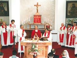 本所教会ゆかりの司祭たちによる共同司式