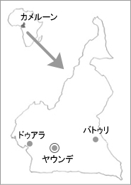 地図:アフリカ大陸のカメルーン