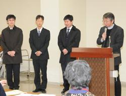 神学院に入学する3名の紹介