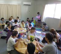 仮設住宅集会所での移動カフェ(東松島)