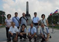 フィリピン巡礼 フィリピンの英雄ホセ・リサール記念公園で